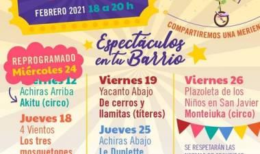 ACHIRAS ARRIBA, SAN JAVIER : ESPECTÁCULO EN TU BARRIO,EL MIÉRCOLES 24 DE 18 A 20 HORAS.