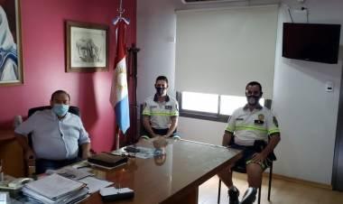 VILLA DOLORES : RELACIONES INTERINSTITUCIONALES : C.E.M.D.O Y POLICÍA CAMINERA.