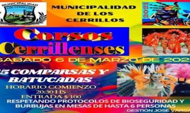 CORSOS CERRILLENSES 2021, SÁBADO 06 DE MARZO,DESDE LAS 20,300 HORAS.