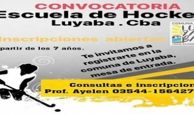 LUYABA : NUEVA CONVOCATORIA  PARA LA ESCUELA DE HOCKEY A PARTIR DE LOS 7 AÑOS.