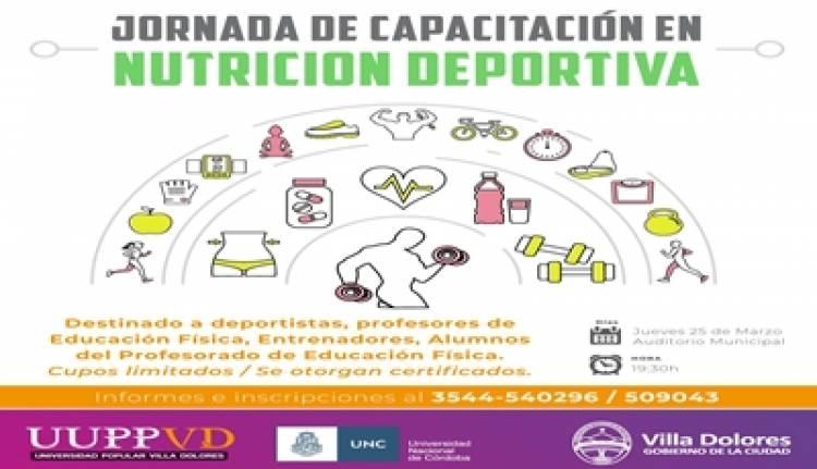 VILLA DOLORES, CÓRDOBA : JORNADA DE CAPACITACIÓN EN NUTRICION DEPORTIVA.
