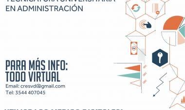 VILLA DOLORES, CÓRDOBA - NUEVA CARRERA  TEC. UNIVERSITARIA EN ADMINISTRACIÓN.