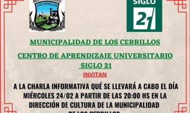 LOS CERRILLOS,TRASLASIERRA : CENTRO DE APRENDIZAJE UNIVERSITARIO , UNIVERSIDAD SIGLO 21.