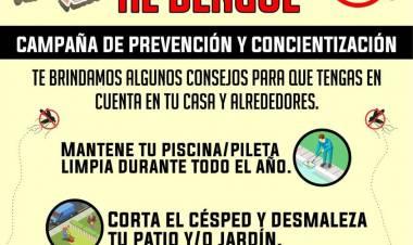 VILLA DOLORES : CON EL CALOR APARECE EL DENGUE Y COMBATIRLO ES TAREA DE TODOS.