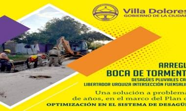 VILLA DOLORES : ARREGLO BOCA DE TORMENTA