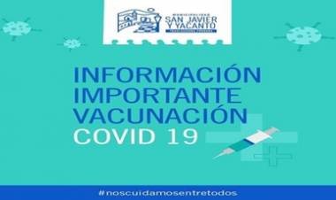 SAN JAVIER,TRASLASIERRA : ATENCIÓN VECINOS, INFORMACIÓN IMPORTANTE PARA LA VACUNACIÓN COVID-19.