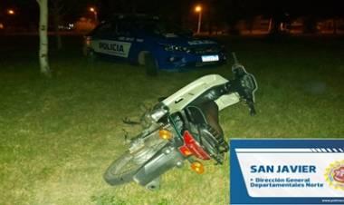 RECUPERO DE MOTOCICLETA ROBADA EN VILLA DOLORES.