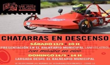 SAN JAVIER,TRASLASIERRA : CHATARRAS EN DESCENSO, EL SÁBADO 13 Y DOMINGO 14 DE MARZO EN EL BALNEARIO MUNICIPAL.