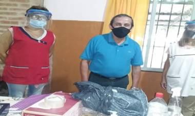 CONLARA ,CÓRDOBA : LA COMUNA ENTREGÓ KITS SANITARIOS A LOS ESTABLECIMIENTOS EDUCATIVOS.