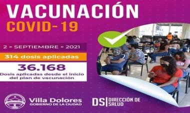 VILLA DOLORES, CÓRDOBA : AVANZA EL PLAN DE VACUNACIÓN CONTRA EL CORONAVIRUS.