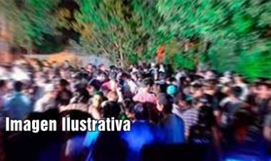 """VILLA DOLORES : APREHENSIÓN Y """"DESARTICULACIÓN"""" DE FIESTA CLANDESTINA CON 300 PERSONAS."""