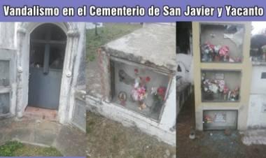 VANDALISMO EN EL CEMENTERIO DE SAN JAVIER Y YACANTO, TRASLASIERRA CÓRDOBA.