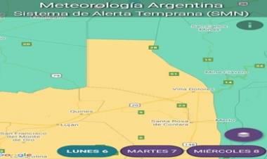ALERTA METEOROLÓGICA POR TORMENTA EN TRASLASIERRA, CÓRDOBA.
