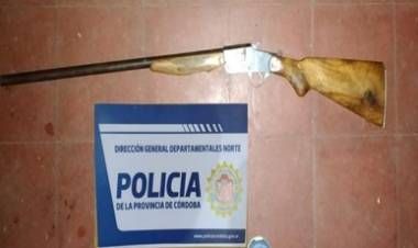 AMBUL, TRASLASIERRA : INCAUTACIÓN DE ARMA DE FUEGO.