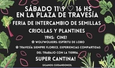 TRAVESÍA, TRASLASIERRA : FERIA DE INTERCAMBIO DE SEMILLAS CRIOLLAS Y PLANTINES, EL SÁBADO 11 DE SEPTIEMBRE.