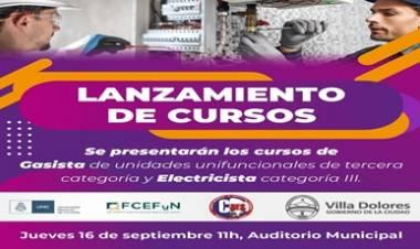 PRESENTACIÓN DE LOS CURSOS DE GASISTA Y ELECTRICISTA CON TÍTULOS DE VALIDEZ NACIONAL.