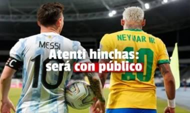 SAN JUAN : CONFIRMARON QUE SERÁ CON PÚBLICO EL ENCUENTRO DE ARGENTINA - BRASIL.