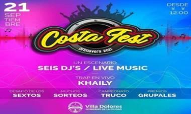 VILLA DOLORES : COSTA FEST PRIMAVERA 2021.
