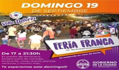 VILLA DOLORES : ESTE DOMINGO 19 DE SEPTIEMBRE, HAY FERIA FRANCA.
