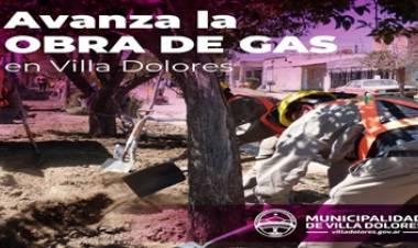 AVANZA LA OBRA DE GAS NATURAL EN VILLA DOLORES.