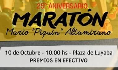 MARATON EN LUYABA, TRASLASIERRAS, CORDOBA :  25° ANIVERSARIO, DOMINGO 10 DE OCTUBRE, PREMIOS EN EFECTIVO.