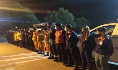 MENDOZA : BOMBEROS VOLUNTARIOS ACUDEN A SAN LUIS, PARA AYUDAR EN LOS INCENDIOS.
