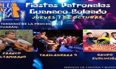 PATRONALES DE LA VIRGEN DEL ROSARIO EN GUANACO BOLEADO, EL JUEVES 07 DE OCTUBRE CON MISA, PROCESIÓN Y PEÑA.