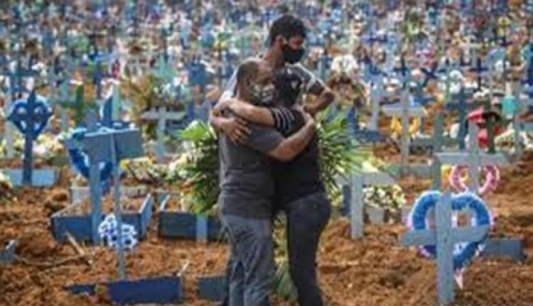 BRASIL SUPERÓ LA BARRERA DE 4.000 MUERTES EN UN DÍA POR COVID-19.