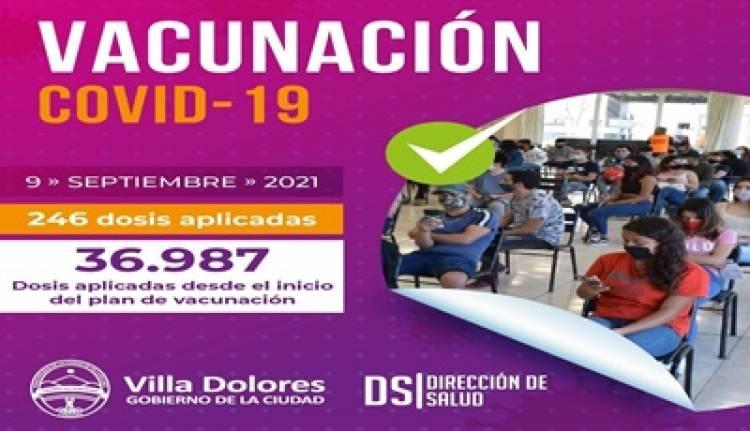 VILLA DOLORES : AVANZA EL PLAN DE VACUNACIÓN CONTRA EL CORONAVIRUS.