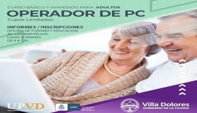 VILLA DOLORES : CURSO DE OPERADOR DE PC PARA ADULTOS.