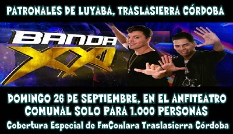 BANDA XXI EN LAS PATRONALES DE LUYABA, TRASLASIERRA EL DOMINGO 26 DE SEPTIEMBRE.