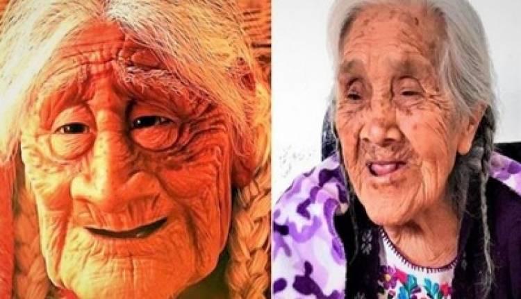 """LA ANCIANA QUE INSPIRO A """"MAMÁ COCO"""" CUMPLIÓ 108 AÑOS."""