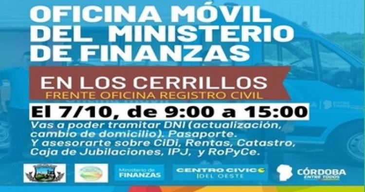 LOS CERRILLOS : VISITA OFICINA MOVIL DEL MINISTERIO DE FINANZAS , JUEVES 7 DE 09:00 a 15:00 HORAS.