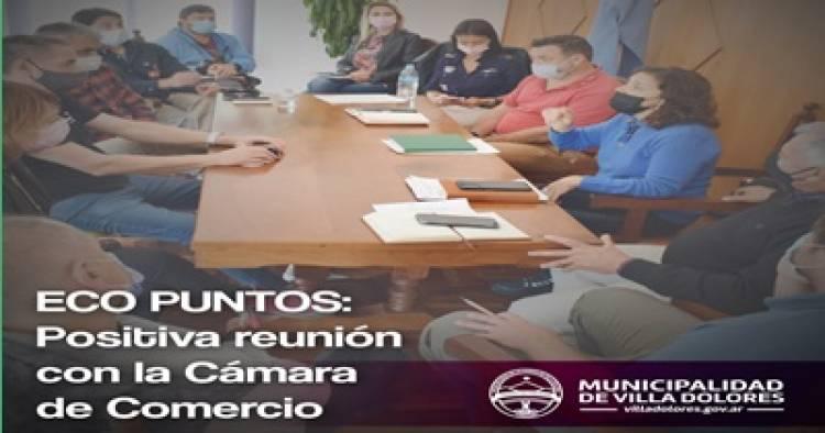 OTRA POSITIVA REUNIÓN ENTRE LA MUNICIPALIDAD Y LA CÁMARA DE COMERCIO DE VILLA DOLORES.