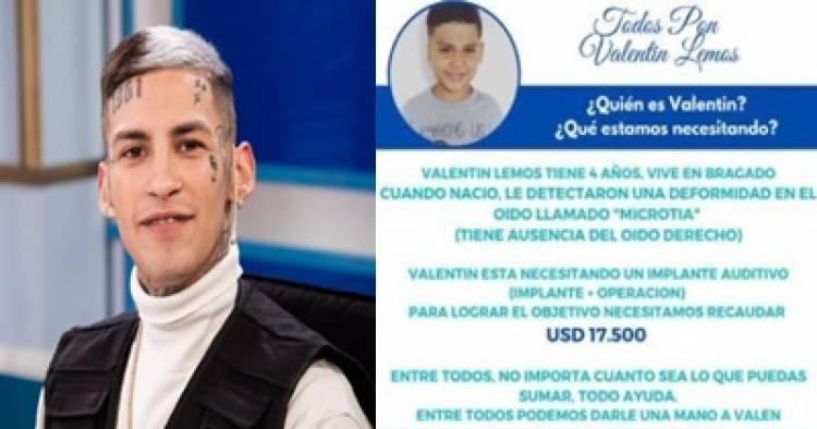 L-GANTE ORGANIZÓ UNA COLECTA EN TIEMPO RÉCORD : DIBU MARTINEZ, PAPU GÓMEZ Y COSCU, ALGUNOS DE LOS QUE APORTARON.